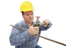 działanie hydraulika budowlanych Fotografia Stock