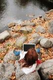 działanie laptopa Obrazy Stock