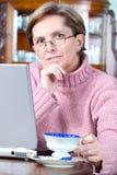 działanie laptopa do domu Obrazy Stock