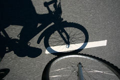 działanie na rowerze Zdjęcia Royalty Free