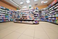 Dział gospodarstwo domowe substanci chemicznej towary Zdjęcie Royalty Free