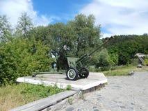 Działo artyleria Zdjęcia Stock