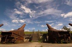 działo bateryjna fortyfikacja Zdjęcia Stock