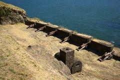 Działo fort Niebla, Chile Zdjęcia Royalty Free