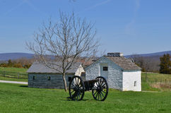 Działo i stajnie - Antietam Krajowy Batalistyczny pole Zdjęcia Stock