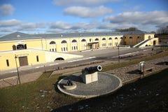 Działo xix wiek w Daugavpils fortness Fotografia Stock