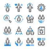 Dział zasobów ludzkich ikony set ilustracji