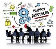 Dział Zasobów Ludzkich pracy zespołowej Biznesowego spotkania Zatrudnieniowy Akcydensowy pojęcie Obrazy Stock