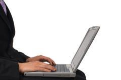 działanie laptopa Zdjęcia Stock
