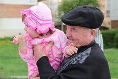 Dziadek dziewczyna Zdjęcie Stock