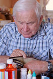 dziadek jest pusty portfel. Fotografia Royalty Free