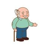 Dziadek starej osoby mężczyzna samiec ikona gdy dekoracyjna tło grafika stylizował wektorowe zawijas fala ilustracji