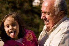 dziadek wnuczka. Fotografia Royalty Free