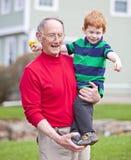 dziadek wnuk obraz stock