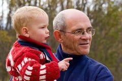 dziadek wnuk zdjęcie royalty free