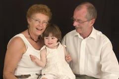 dziadkowie 1 szczęśliwi Zdjęcia Stock