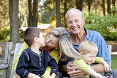Dziadkowie i wnuki Fotografia Royalty Free