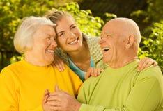 dziadkowie wnuczka. Obrazy Stock