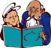 Dziadunio i dzieciak ilustracji