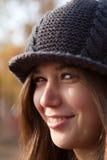 dzianina kapeluszowy portret Zdjęcie Royalty Free