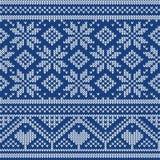 Dzianina ornamentu Bezszwowa tekstura Zdjęcia Stock