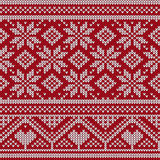 Dzianina ornamentu Bezszwowa tekstura Obraz Royalty Free