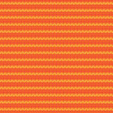 Dzianiny przędzy pomarańczowego koloru żółtego horyzontalny bezszwowy wzór ilustracja wektor