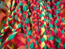 Dzianiny tkaniny kolorowa rozmaitość Fotografia Royalty Free