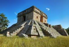 Dzibilchaltun: il tempio famoso del sole fotografia stock libera da diritti