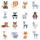 Dzicy I Domowi zwierzęta Ustawiający ilustracja wektor