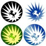 dzicy końscy logowie Zdjęcia Royalty Free