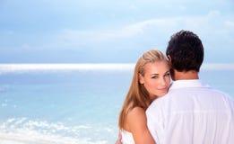 Dzień ślubu na seashore Fotografia Royalty Free
