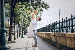 Dzień ślubu w Budapest Zdjęcia Royalty Free