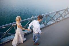 Dzień ślubu w Budapest Fotografia Royalty Free