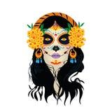 Dzień śmierć w Meksyk wektorze royalty ilustracja