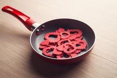 dzień śniadaniowy valentine s Zdjęcia Stock