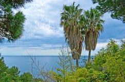 dzień śródziemnomorskich skał seascape nieba denny lato pogodny Obrazy Royalty Free