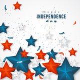 dzień amerykańska niezależność Obraz Royalty Free
