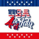 dzień amerykańska niezależność Obrazy Royalty Free