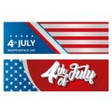 dzień amerykańska niezależność Obrazy Stock