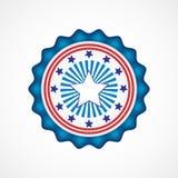 dzień amerykańska niezależność Wakacyjne odznaki Zdjęcia Stock