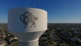 Dzień antena Ustanawia strzał Cibolo Teksas wieża ciśnień zbiory wideo