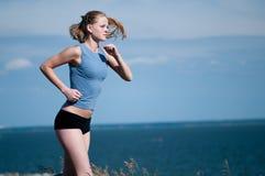 dzień bieg sporta pogodni kobiety potomstwa fotografia stock