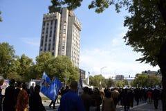 Dzień Bułgarski wojsko korowód, Varna Bułgaria Zdjęcia Stock