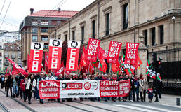 dzień demonstraci gasteiz pracy vitoria Zdjęcia Stock