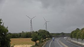 dzień deszcz Panorama, krajobraz Shoss liczba 30 Niemcy zdjęcie wideo