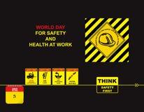 Dzień dla Zbawczego i zdrowie przy pracą Obrazy Royalty Free