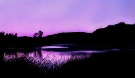 dzień dobry lake góry Zdjęcia Stock