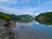 dzień dobry lake góry Obraz Royalty Free
