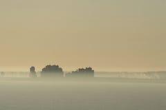 dzień dobry mgła. Zdjęcia Stock